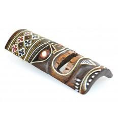 Tiki mask h30cm wood colorful pattern. Deco Hawaii.