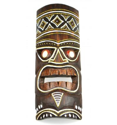 L'acquisto di maschera di legno a buon mercato. Decorazione Polinesia Maori Tahiti.