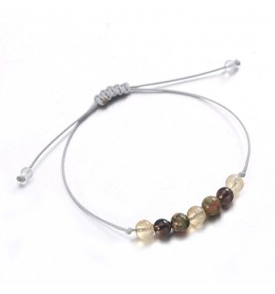 Bracelet jewelry lucky pregnancy happy, unakite citrine smoky quartz