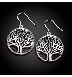 Earrings Tree of Life silver plated
