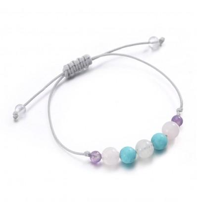 Bijou bracelet porte-bonheur amulette protection femme pierres fines.