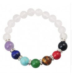 Bracelet 7 chakra Crystal Rock. Jewelry Yoga / Meditation.