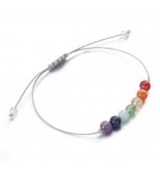 Jewelry stone : bracelet yoga lucky 7 chakras, stones.