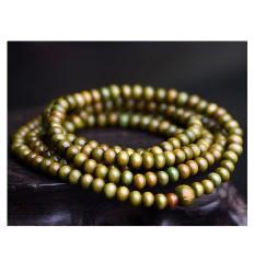 Bracciale Mala Tibetano perline in legno verde.