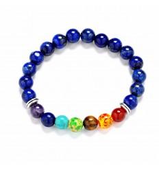 Bracelet 7 chakra Lapis Lazuli