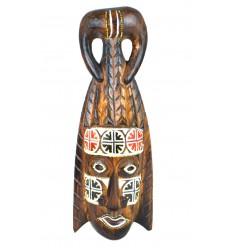 Maschera africana in legno a buon mercato. Decorazione tribale Africa etnico.