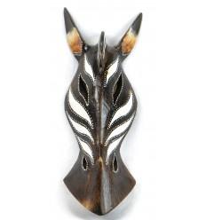 Masque zèbre en bois h30cm fait main.