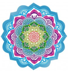 Mat meditation round wall Hanging beach Sheet 150cm MANDALA