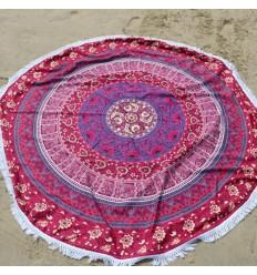 Telo mare round-Carpet-rilassamento parete 150cm Hippie chic