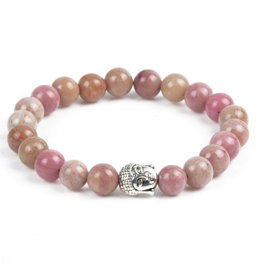 bracelet rhodonite anti stress perle bouddha porte bonheur examens. Black Bedroom Furniture Sets. Home Design Ideas