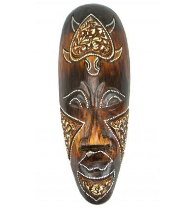 Maschera di legno 30cm - modello tartaruga - arredamento etnico chic in stile africano.