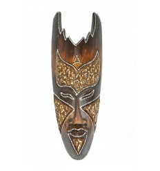 Wooden mask 30cm - decoration ethnic chic african style.