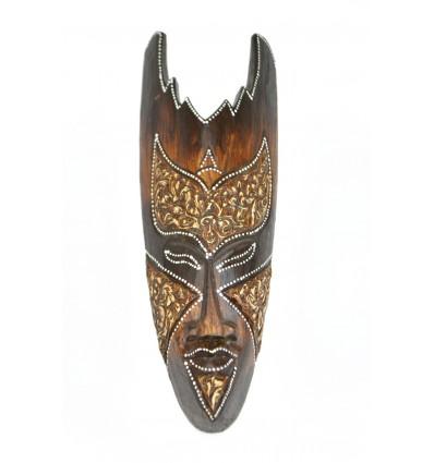 Masque en bois 30cm - décoration ethnique chic style africain.