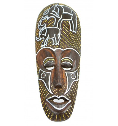 Purchase Deco africa not expensive. African mask wood pattern elephant.