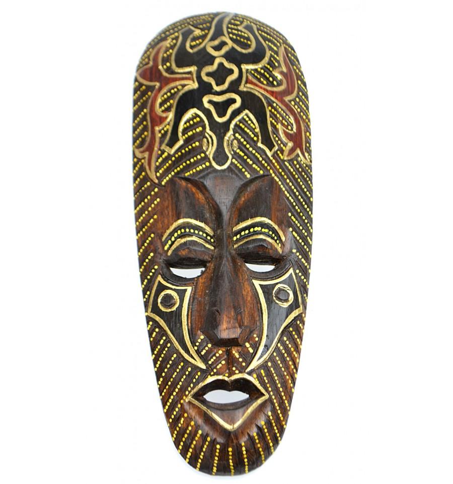 Achat d co afrique pas cher masque africain en bois motif for Achat decoration