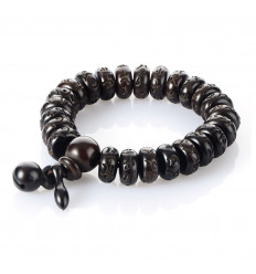 Bracelet Bouddha traditionnel en perles de bois