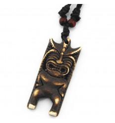 Collana mista uomini / donne, con ciondolo di Tiki - stile polinesiano