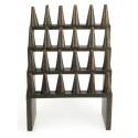 Porte-bagues / Présentoir à bagues (24 cônes) en bois teinte marron chocolat
