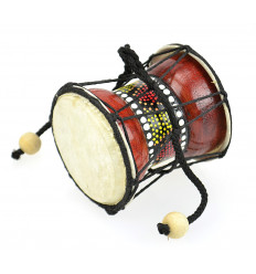 Mini Djembe hand drum-wood and skin - musical Instrument and object deco