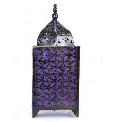 Lampada marocchina in ferro battuto a buon mercato. Arredamento sala orientale.