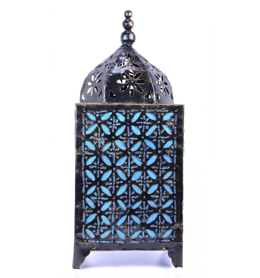 latest lampe marocaine bleu turquoise fer forg dcoration maroc orient with chevet fer forg pas cher. Black Bedroom Furniture Sets. Home Design Ideas