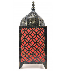 Living room lamp eastern wrought iron craft orange. Deco morocco.