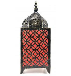 Soggiorno lampada orientale artigiani del ferro battuto di colore arancione. Deco marocco.