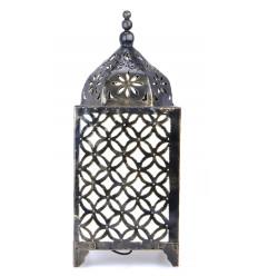 Lampe orientale H45cm en fer forgé, artisanat marocain