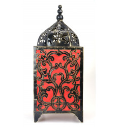 Mood lamp handcrafted of wrought iron, decorated with baroque original.