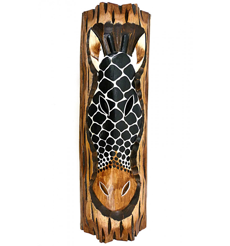 d coration murale girafe en bois th me savane africaine ethnique. Black Bedroom Furniture Sets. Home Design Ideas