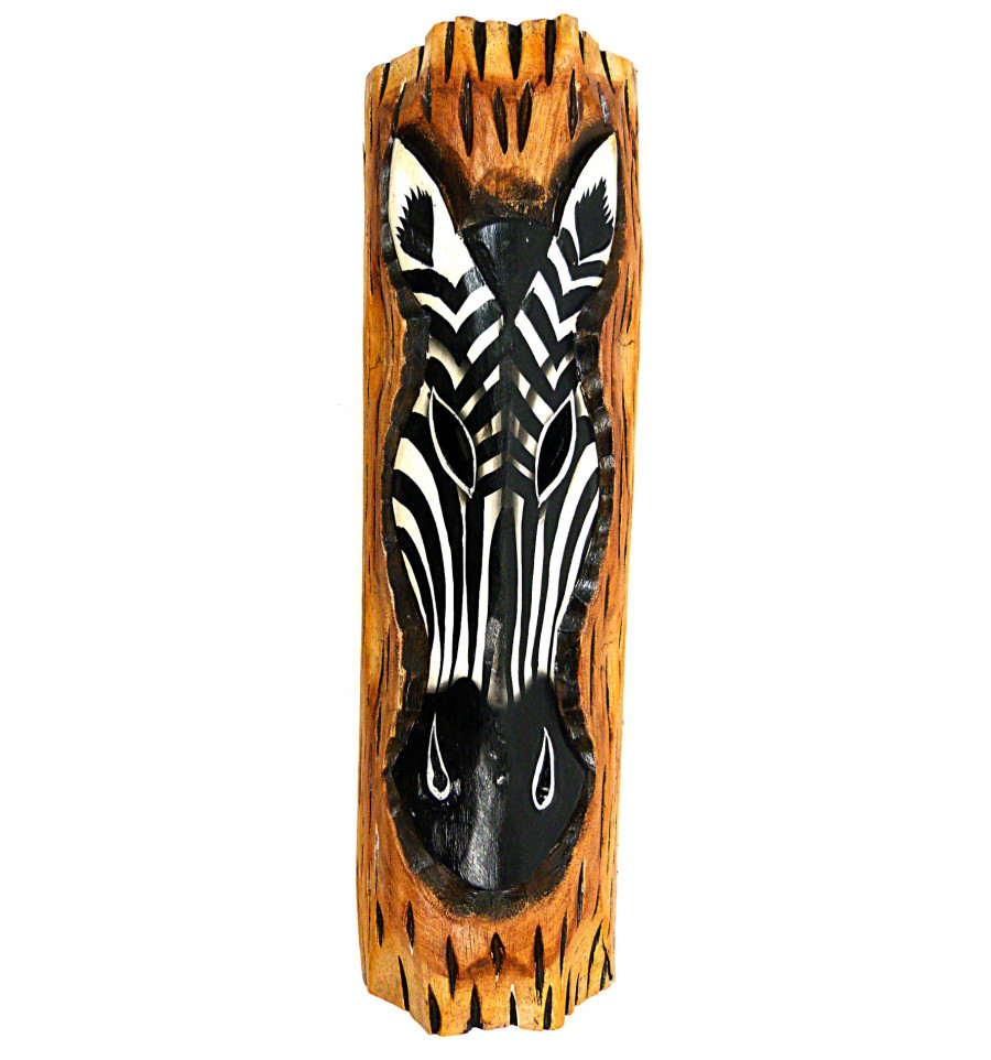 Decoration Murale Zebre En Bois Theme Savane Africaine Ethnique