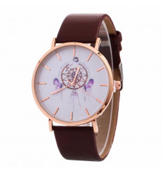 Watch fantasy woman pattern Catch-Dreams - Strap brown