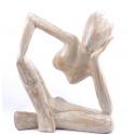 comprare statua lignea di stile di rodin, il pensatore a buon mercato, di artigianato.