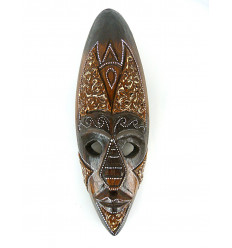 Mask decor, african wood 30cm - decoration ethnic chic