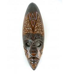 Masque déco africaine en bois 30cm - décoration ethnique chic
