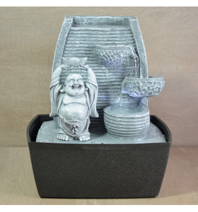 Fountain Feng Shui Buddha inside not expensive. Water wall led light.