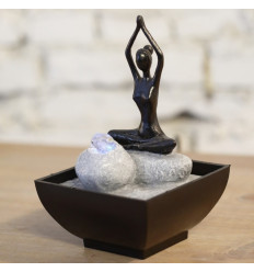 "Small indoor fountain ""Yoga"" with Led lighting colorful"