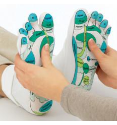 Calzini idratanti riflessologia plantare, massaggio idea regalo di benessere.