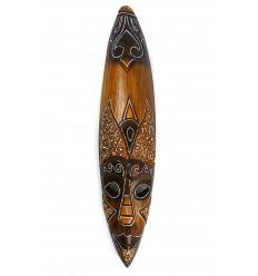 Grand masque africain en bois pas cher. Décoration murale africaine.