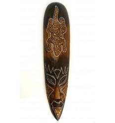 Maschera africana modello salamandra fortunato. Deco in legno esotico.