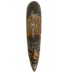 Maschera africana elefante, artigianali di legno a buon mercato.