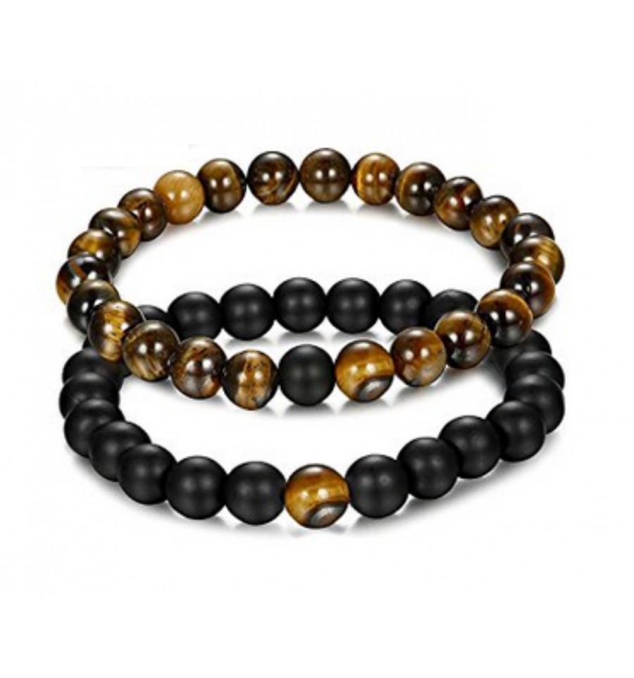 natürliche dehnbar geschenk runde perlen schmuck tigerauge stein das armband