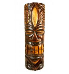 Grande Statue en bois - Totem Tiki H 50cm Déco Hawaïenne