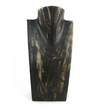 Buste présentoir à collier en bois professionnel grossiste, pas cher.