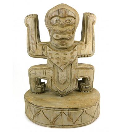 Statua Totem trofeo koh lanta in legno, deco stile pre-colombiana.