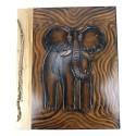 Album photo vacances afrique éléphant fait main scrap artisanal.