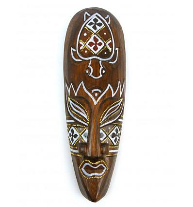 Masque décor tortue batik en bois 30cm