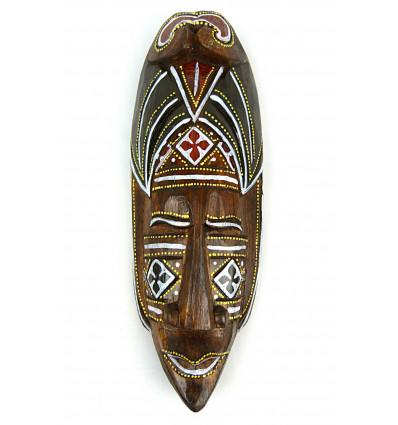 Maschera di arredamento batik in legno 30cm. Decò a parete in stile africano