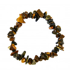 Bracelet baroque Tiger Eye-natural - Protection, self-confidence.