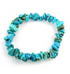 Bracelet baroque Howlite-turquoise - stone-stabilizing